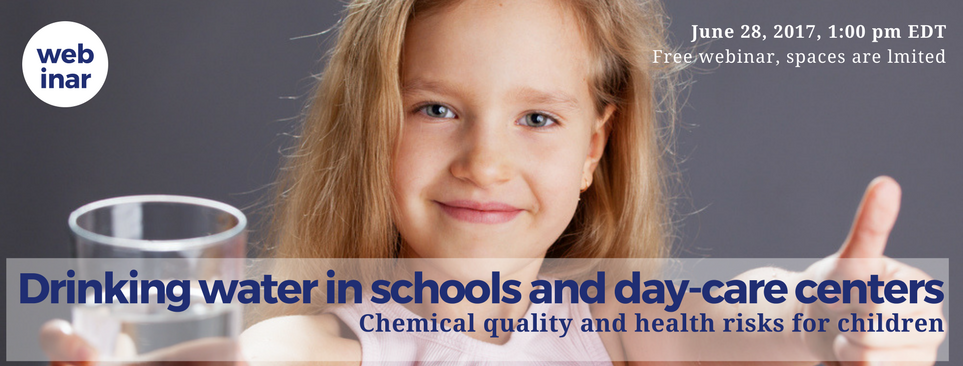 Drinking water in schools and day-care centers: chemical quality and health risks for children [Webinar]